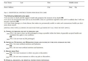 Advanced Directive Template 10 Sample Advance Directive forms to Download Sample
