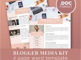 Advertising Media Kit Template Media Kit Template Blog Marketing Kit Word Template Press