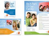 Advertising Pamphlet Template Church Youth Ministry Flyer Ad Template Word Publisher