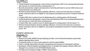Advocate Resume format Word Patient Advocate Resume Samples Velvet Jobs
