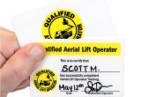 Aerial Lift Certification Card Template Qualified Aerial Lift Operator Certification Wallet Card