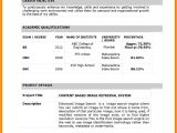 Aeronautical Fresher Resume format 10 Cv Sample for Fresher theorynpractice