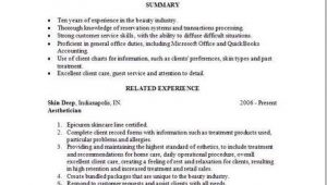 Aesthetician Resume Samples Aesthetician Resume Occupational Examples Samples Free