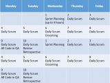 Agile Sprint Calendar Template Sprint Capacity Cc Pace