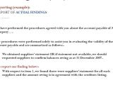 Agreed Upon Procedures Report Template Lesson Plan Review Financial Statements isre 2400 Text