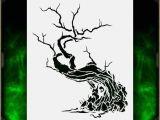 Air Brush Templates Creepy Tree 1 Airbrush Stencil Template Airsick Zombies