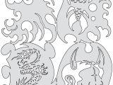 Air Brush Templates Kanji Motto Tiki Nano Series Mini Airbrush Stencil Set