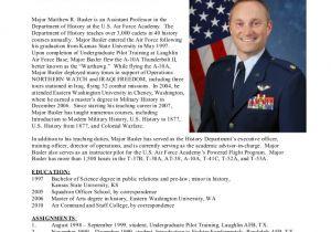 Air force Bio Template Secrets for Sample Military Bio Bio Examples