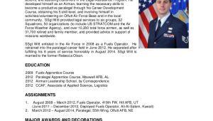 Air force Bio Template Witt Military Bio