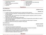 Aircraft Maintenance Contract Template Best Aircraft Mechanic Resume Example Livecareer