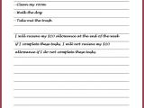 Allowance Contract Template Parent Child Contract Google Search School tools