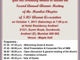 Alumni Email Template Sms Alumni association Cordially Invites All the Alumni to