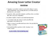 Amazing Cover Letter Creator Download Amazing Cover Letter Creator Review Ppt Presentation