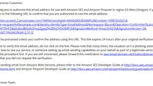 Amazon Ses Email Templates Using Custom Verification Email Templates Amazon Simple