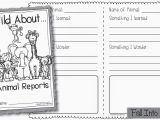 Animal Research for Kids Template Fall Into First Zoopals Animal Reports