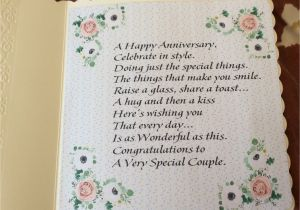 Anniversary Card Daughter and son In Law Verse Inside the Floral Anniversary Card Anniversary Cards