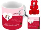 Anniversary Card for Sister and Jiju Amkk Wedding Anniversary Gift Husband Wife Father Mother Sister Jiju Uncle Aunt Ceramic Gifting Mugs Multicolour Pack Of 1