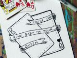 Anniversary Card Off the Queen Sketch King Queen Drawing Cards Artwork Love Art