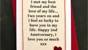 Anniversary Card Quotes for Wife when We Met Personalised Anniversary Card with Images