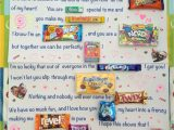 Anniversary Card Using Candy Bars 13 Best Anniversary Poster Ideas Boyfriends Images Candy