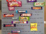 Anniversary Card Using Candy Bars Chocolate Bar Card Dad Birthday Gift Chocolate Card