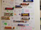 Anniversary Card Using Candy Bars Chocolate Bar Names In Sentences Chocolate Bar Names
