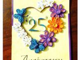 Anniversary Greeting Card for Parents 1 Year Anniversary Card In 2020 with Images Happy 25th