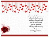 Anniversary Greeting Card for Parents Happy Anniversary Greeting Card