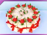 Anniversary Ka Card Banana Sikhaye Diy How to Make Paper Cake for Wedding Birthday Communion Eng Subtitles Speed Up 375