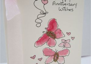 Anniversary Ke Liye Greeting Card Anniversary Card Watercolour Card Hand Painted Card