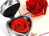 Anniversary Ke Liye Greeting Card Chengu Preserved Flower Rose forever Rose Christmas Never withered Eternal Rose with Gift Box and 3d Pop Up Rose Greeting Card for Xmas Valentine S