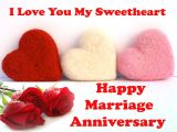 Anniversary Wishes Card with Name Happy Anniversary Wishes to Sweetheart Husband Wedding
