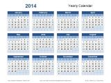 Annual Calendar Template 2014 2014 Yearly Calendar Template the Best Resume