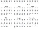 Annual Calendar Template 2014 6 Best Images Of Printable 2013 2014 2015 Yearly Calendar
