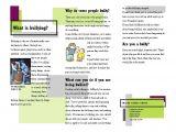 Anti Bullying Brochure Template Anti Bullying Webquest Home