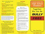 Anti Bullying Brochure Template Bullying Brochure Renanlopes Me