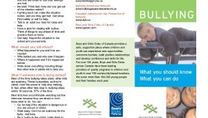 Anti Bullying Brochure Template Bullying Brochure Template 11 Free Pdf Documents