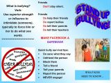 Anti Bullying Brochure Template Stand Up Against Bullying Brochures