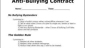 Anti Bullying Contract Template May 2014 the Anti Bully Blog