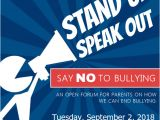 Anti Bullying Flyer Template Anti Bullying Public forum event Flyer Template Postermywall