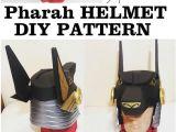 Anubis Mask Template Diy Overwatch Pharah Anubis Helmet Pattern Printable