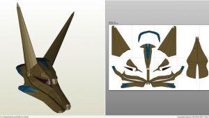 Anubis Mask Template Papercraft Pdo File Template for Stargate Anubis Goa