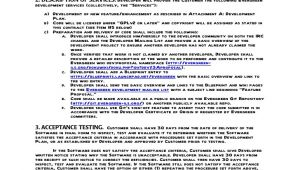 Application Development Contract Template Sample Contract for Contracting with A Developer Evergreen