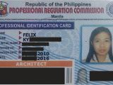 Application for Professional Identification Card Switching From Your Maiden Name to Your Married Name Prc