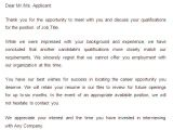 Application Rejection Email Template 27 Rejection Letters Template Hr Templates Free