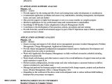 Application Support Analyst Sample Resume Application Support Analyst Resume Samples Velvet Jobs