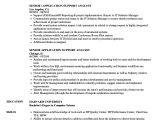 Application Support Analyst Sample Resume Senior Application Support Analyst Resume Samples Velvet