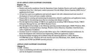 Application Support Engineer Resume Application Support Engineer Resume Samples Velvet Jobs