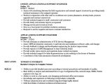 Application Support Engineer Resume Applications Support Engineer Resume Samples Velvet Jobs