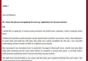 Applying for A Job Online Cover Letter Job Application Cover Letter Gplusnick